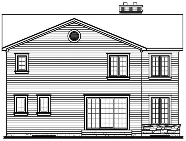 Traditional House Plan 65311 Rear Elevation