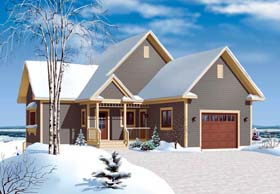House Plan 65312 | Cottage Country Style Plan with 2304 Sq Ft, 3 Bedrooms, 2 Bathrooms, 1 Car Garage Elevation