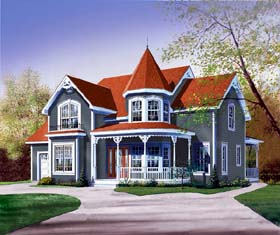 Country Victorian House Plan 65315 Elevation