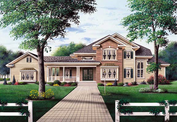 Ranch Traditional House Plan 65317 Elevation