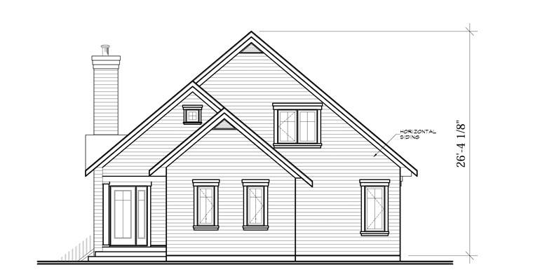 Cottage House Plan 65319 Rear Elevation