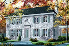 House Plan 65320 | Style Plan with 2663 Sq Ft, 3 Bedrooms, 3 Bathrooms Elevation