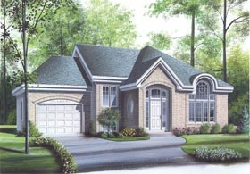 Traditional , European House Plan 65324 with 2 Beds, 1 Baths, 1 Car Garage Elevation