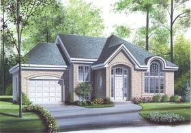 European, Traditional House Plan 65324 with 2 Beds, 1 Baths, 1 Car Garage Elevation