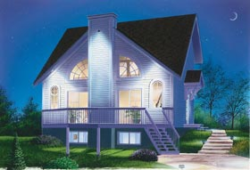 Contemporary Traditional House Plan 65326 Elevation