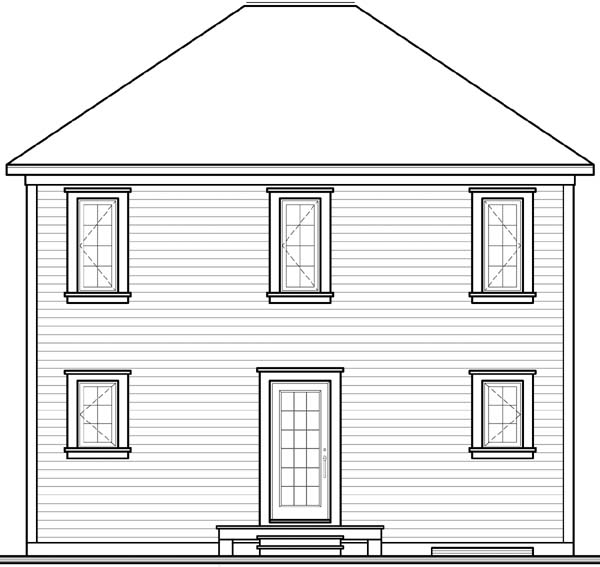 Colonial House Plan 65327 Rear Elevation