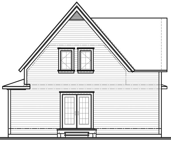 Country House Plan 65328 Rear Elevation