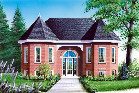 European, Victorian House Plan 65329 with 2 Beds, 1 Baths Elevation