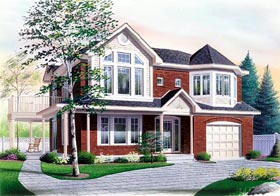 House Plan 65337   Victorian Style Plan with 2112 Sq Ft, 4 Bed, 2 Bath, 1 Car Garage Elevation