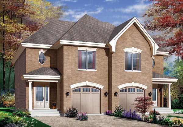 European Multi-Family Plan 65339 with 6 Beds , 4 Baths , 2 Car Garage Elevation