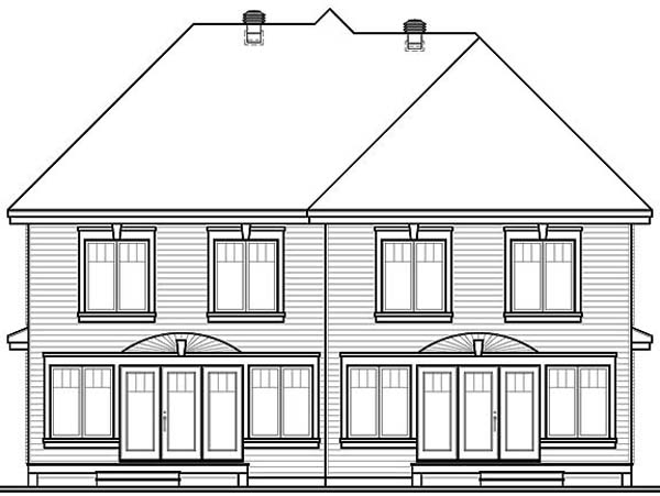 European Multi-Family Plan 65339 Rear Elevation