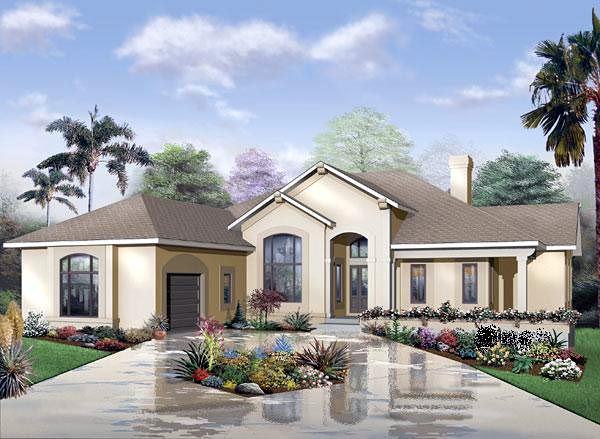 House Plan 65341 | Florida Style Plan with 2620 Sq Ft, 3 Bedrooms, 3 Bathrooms, 3 Car Garage Elevation