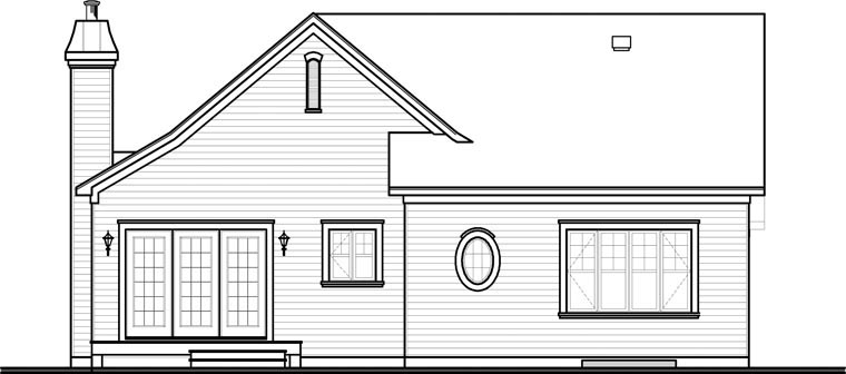 Traditional House Plan 65344 Rear Elevation