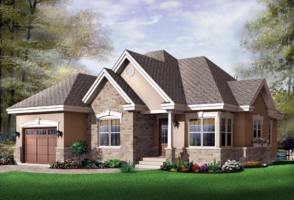 Traditional House Plan 65347 Elevation