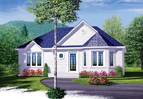 Traditional House Plan 65348 with 2 Beds, 1 Baths Elevation