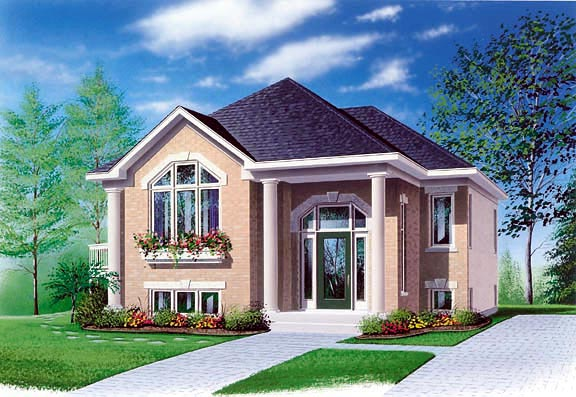 Colonial House Plan 65350 Elevation