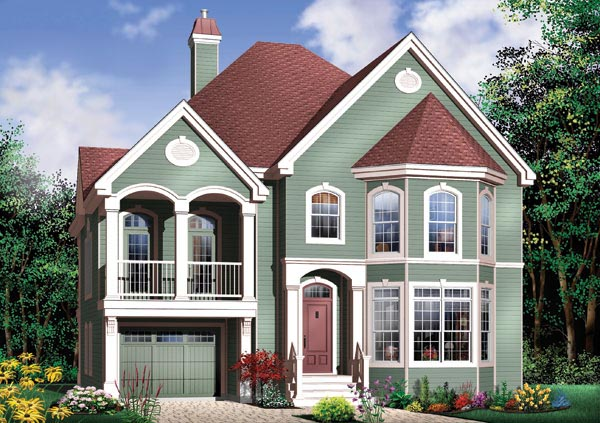 House plan 65358 at - Houses with covered balconies ...