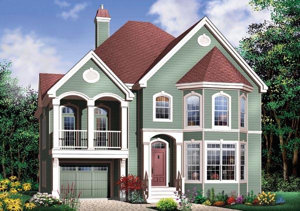 Victorian House Plan 65358 Elevation