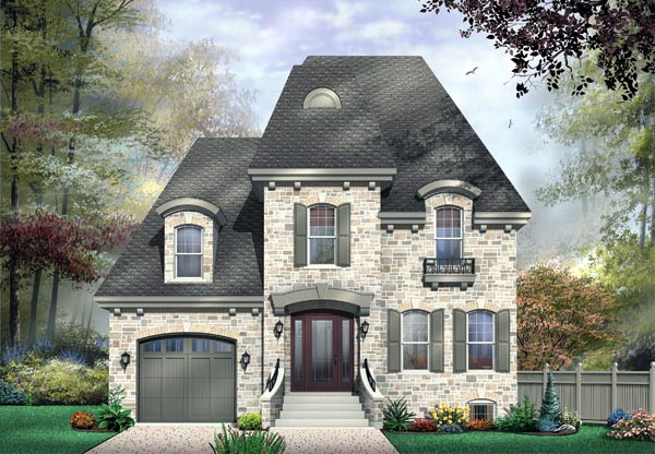 House Plan 65359 | Victorian Style Plan with 2281 Sq Ft, 3 Bedrooms, 3 Bathrooms, 1 Car Garage Elevation