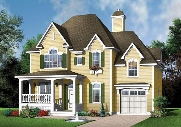 Victorian House Plan 65360 Elevation
