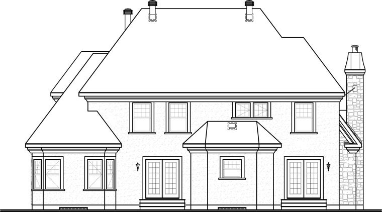 Victorian House Plan 65362 Rear Elevation