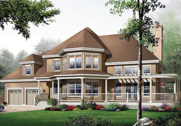 Victorian House Plan 65363 Elevation