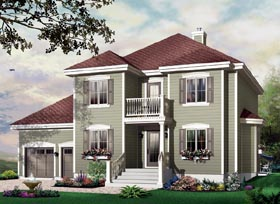 Traditional House Plan 65364 Elevation