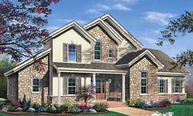 Traditional , Contemporary House Plan 65368 with 3 Beds, 3 Baths, 2 Car Garage Elevation