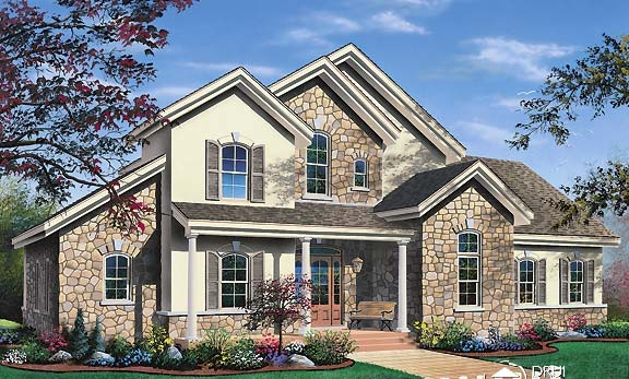 Contemporary Traditional House Plan 65368 Elevation