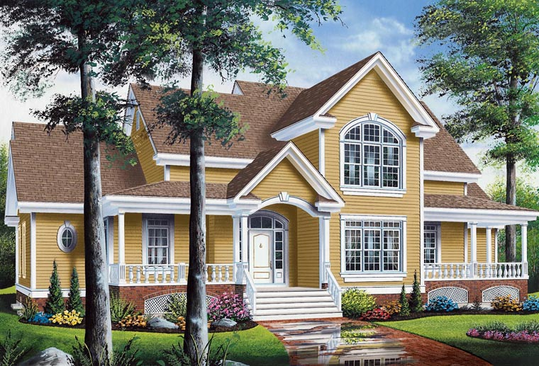 Traditional House Plan 65369 Elevation