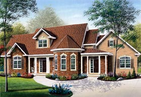 Traditional Victorian House Plan 65370 Elevation