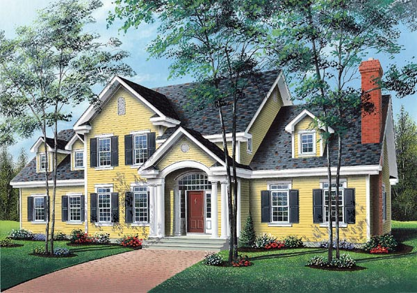 Colonial Traditional House Plan 65371 Elevation