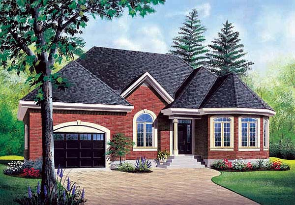 Victorian House Plan 65375 with 2 Beds, 1 Baths, 1 Car Garage Elevation