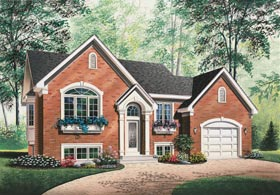 Traditional , European House Plan 65376 with 2 Beds, 1 Baths, 1 Car Garage Elevation