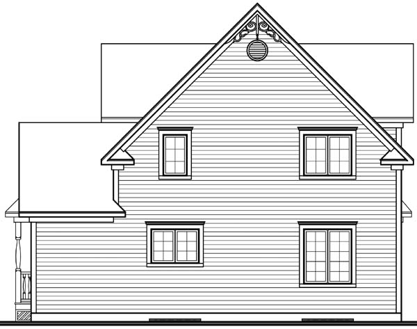 Country Farmhouse Southern Victorian House Plan 65377 Rear Elevation