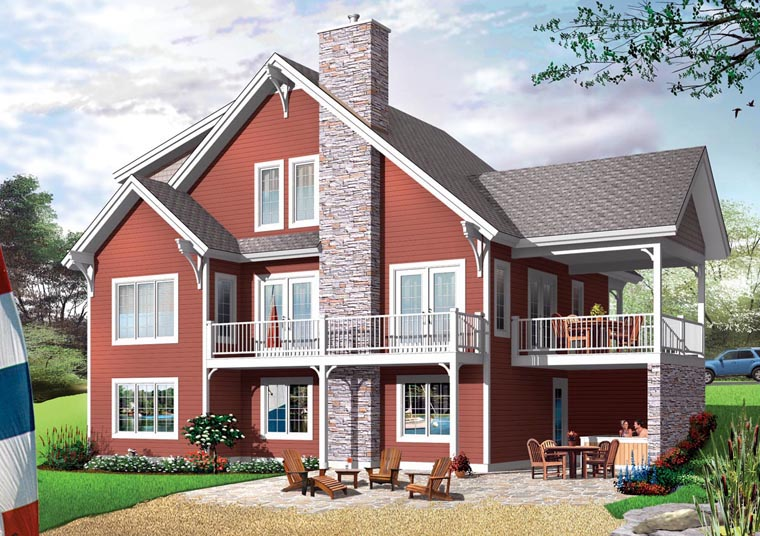 Cottage, Country, Craftsman House Plan 65379 with 6 Beds, 4 Baths Elevation