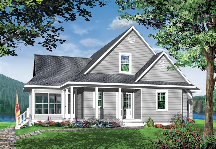 Coastal Country Craftsman Traditional House Plan 65380 Elevation