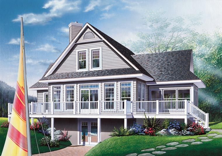 Coastal Country Craftsman Traditional House Plan 65380 Rear Elevation