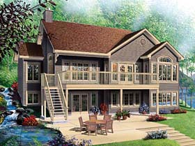 House Plan 65381 | Craftsman Traditional Style Plan with 2812 Sq Ft, 4 Bedrooms, 3 Bathrooms, 2 Car Garage Elevation