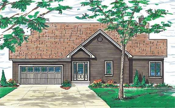 Craftsman Traditional House Plan 65381 Rear Elevation