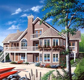 Coastal Contemporary Traditional Victorian House Plan 65382 Elevation