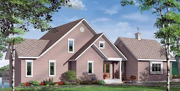 Coastal Contemporary Traditional Victorian House Plan 65382 Rear Elevation