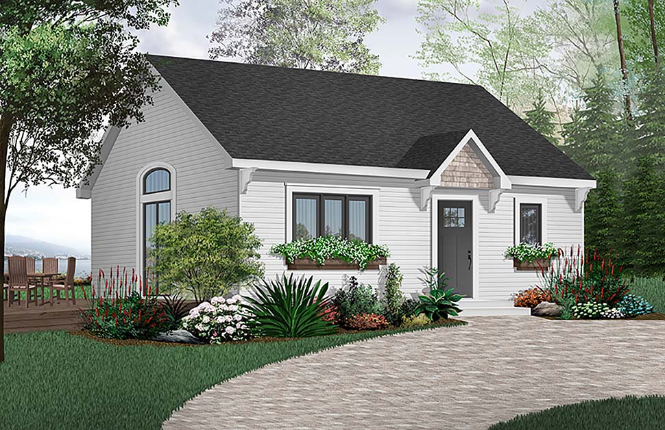 Cabin Cape Cod House Plan 65386 Elevation