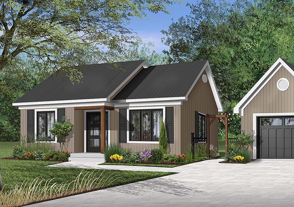 One-Story , Ranch , Elevation of Plan 65387
