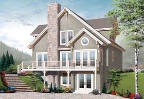 Cottage Craftsman House Plan 65389 Elevation