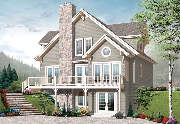 Cottage Craftsman House Plan 65389 Elevation