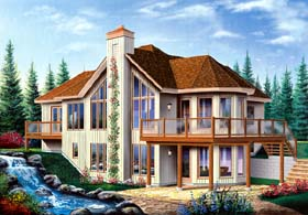 Bungalow , Contemporary , Craftsman House Plan 65390 with 3 Beds, 3 Baths, 1 Car Garage Elevation