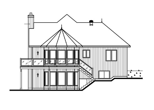 Bungalow, Contemporary, Craftsman House Plan 65390 with 3 Beds, 3 Baths, 1 Car Garage Picture 1