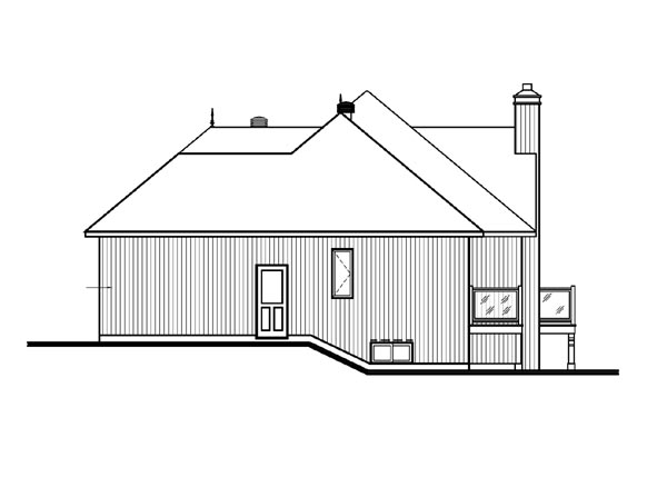 Bungalow, Contemporary, Craftsman House Plan 65390 with 3 Beds, 3 Baths, 1 Car Garage Picture 3