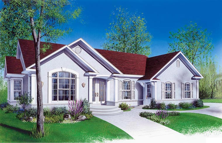 Bungalow Florida Ranch Traditional House Plan 65391 Elevation